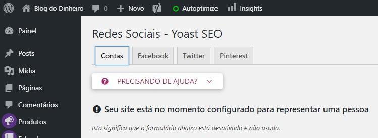 redes sociais blogdodinheiro d75ran - SEO para iniciantes no WordPress: como configurar e otimizar seu blog em 2020