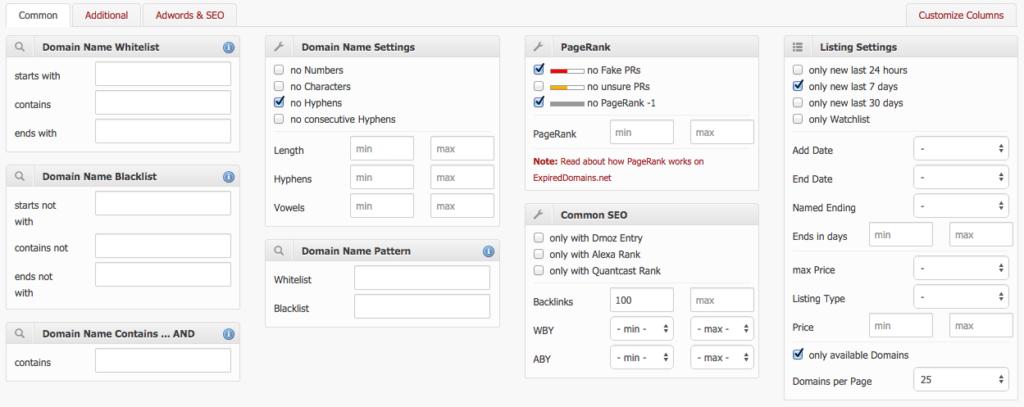 filtro expired domains pbn 1024x407 - O que é PBN (Private Blog Network)? Ainda funciona em 2020?